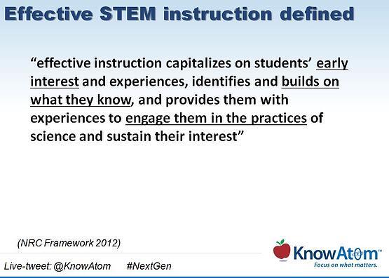 Effective STEM instruction defined