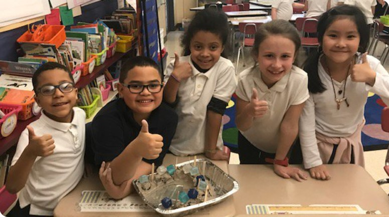 Hands on learning with elementary science students