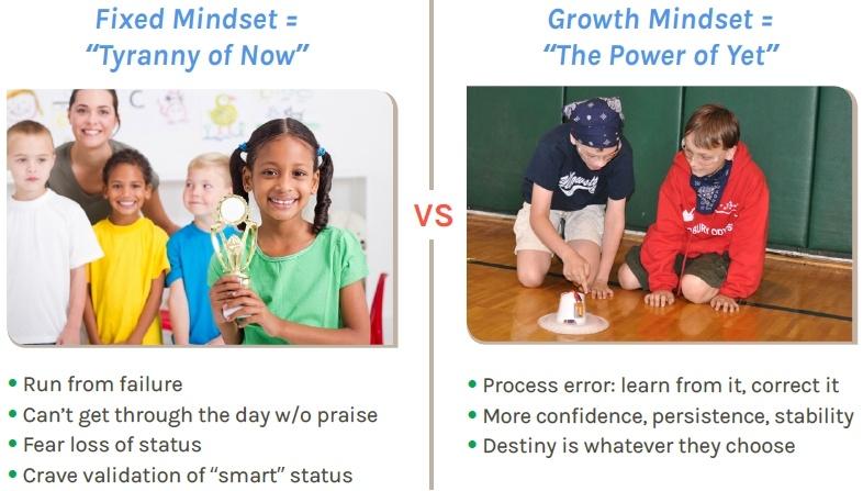 Fixed Mindset vs, Growth Mindset